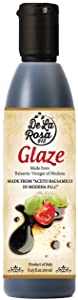 Non-GMO Balsamic Glaze - De La Rosa 8.45oz - Made from Aceto Balsamico Di Modena P.G.I. & Only 3 Ingredients | Vegan, Kosher, Gluten-Free | Drizzle on Everything!