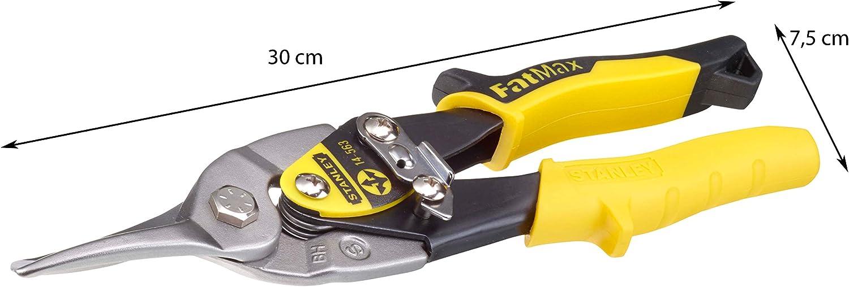 /& STANLEY FATMAX 2-14-563- Tijera de corte recto Elite 911204 panel de yeso Crimpadora para metal
