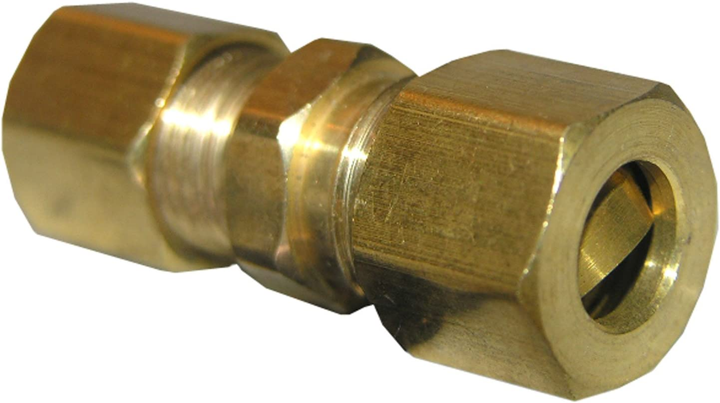 LASCO 17-6211 1/4-Inch Compression Brass Union