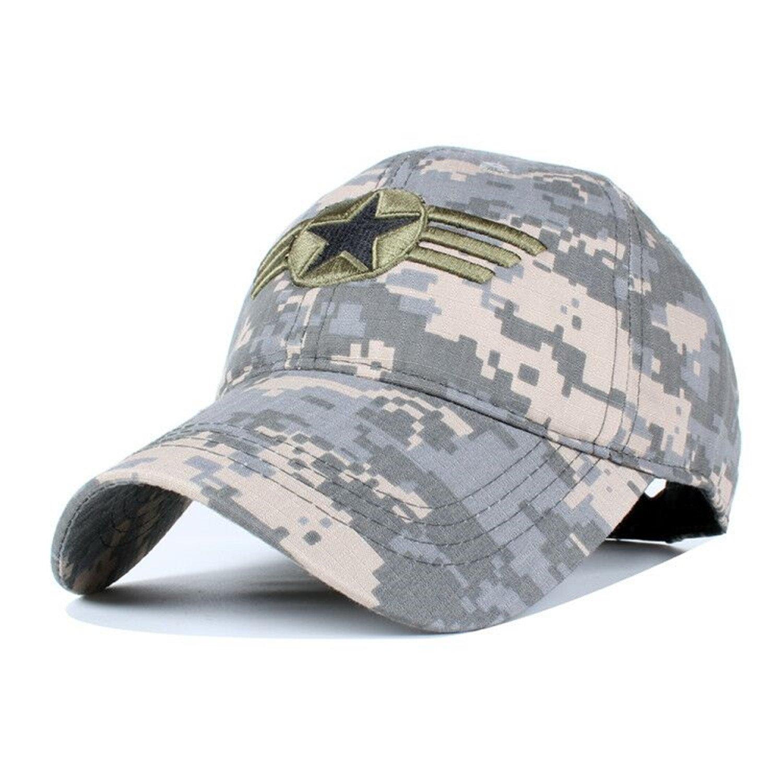 Amazon.com   Miki Da US Army Pentagram Tactical Caps Mens Brand baseball cap  US swat camo hats snapback cap Gorras Grey   Sports   Outdoors 6a83dd0b7e2