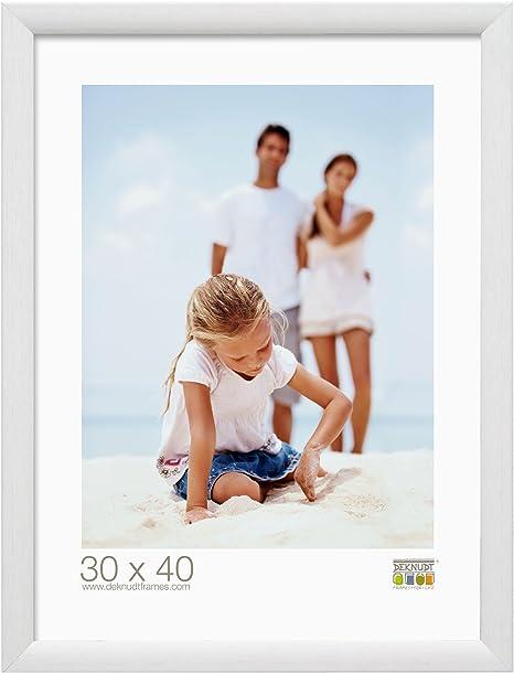 Cadre photo Blanc Bois 23 x 30 cm