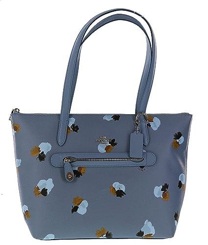 cffa9e743010 Coach Floral Taylor Top Handled Handbag Purse Style No 37226 (Silver Eyb)   Handbags  Amazon.com