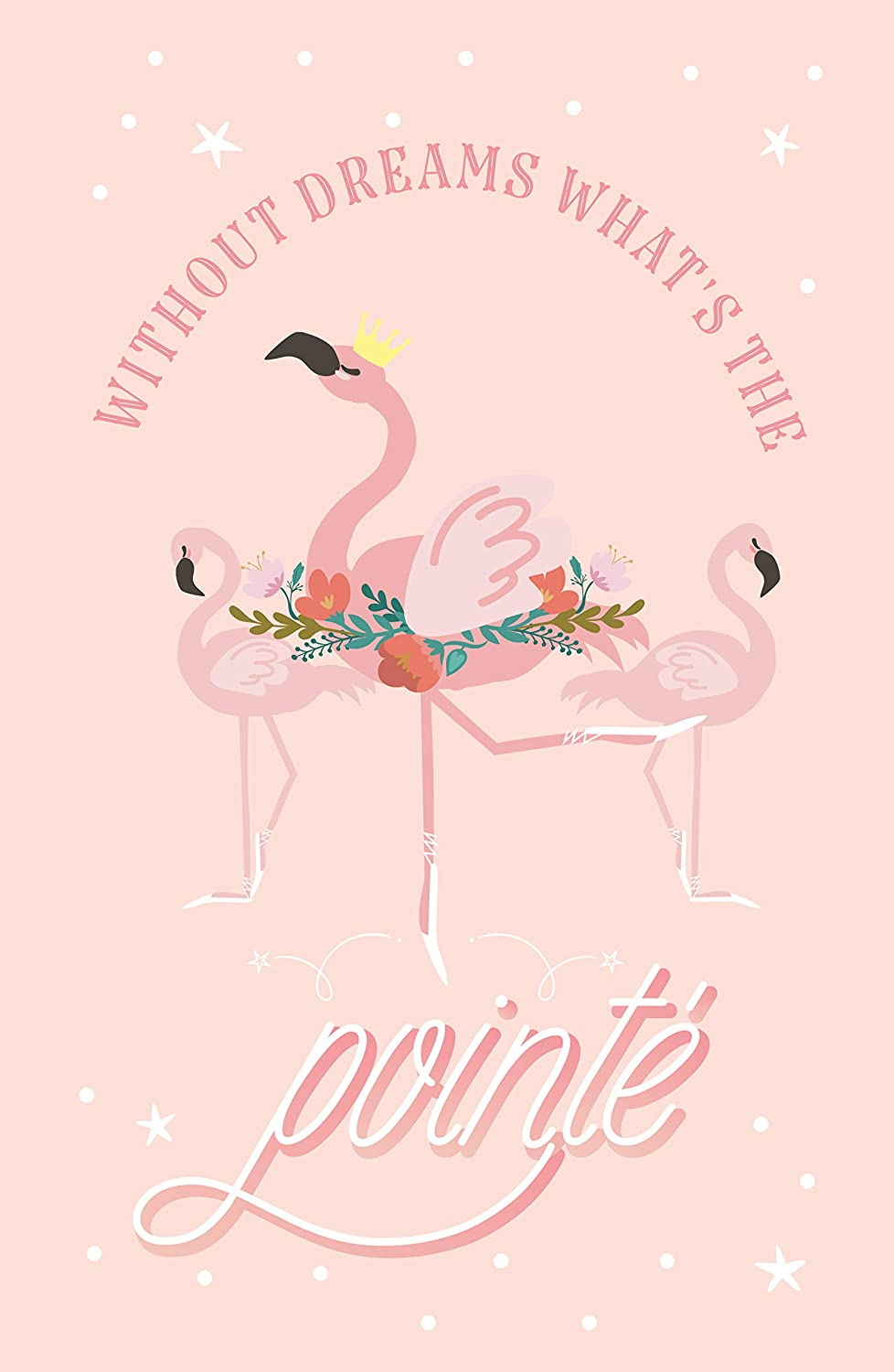 Set of Four Flamingo Gifts for Girls Pink Flamingo Posters for Girls Bedroom Pillow /& Toast Girls Wall Art
