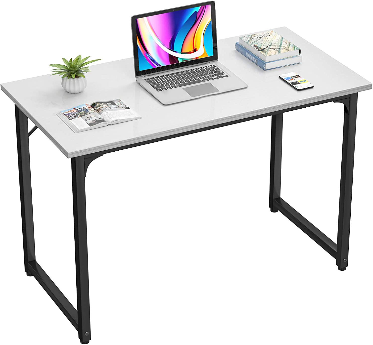 Homfio Computer Desk 32 Inch Study Writing Home Office Desks, Multi-Usage Modern Simple Sturdy PC Laptop Table, Space Saving Workstation Wood Work Desk for Small Space, Easy to Assemble, White