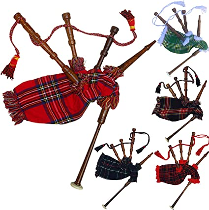 Kids Playable Bagpipe//Junior Bagpipes//Child Toy Bagpipe Free 2 Reeds with Box