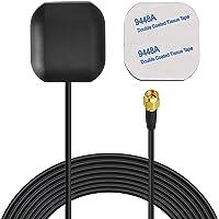 Bingfu Antena de Navegación GPS Activa Impermeable para Vehículo con Conector Macho SMA para Unidad Principal Estéreo de…