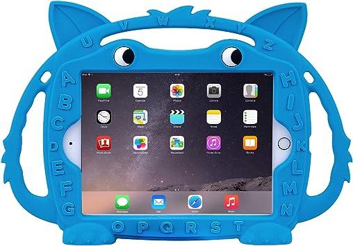 CHIN FAI iPad Mini 1/2/3/4/5 Estuche para niños, Peso Ligero A Prueba de Golpes Soporte Convertible Amigable Estuche Fox Lindo para Apple iPad Mini 1 2 3 4 5 (Azul): Amazon.es: Electrónica