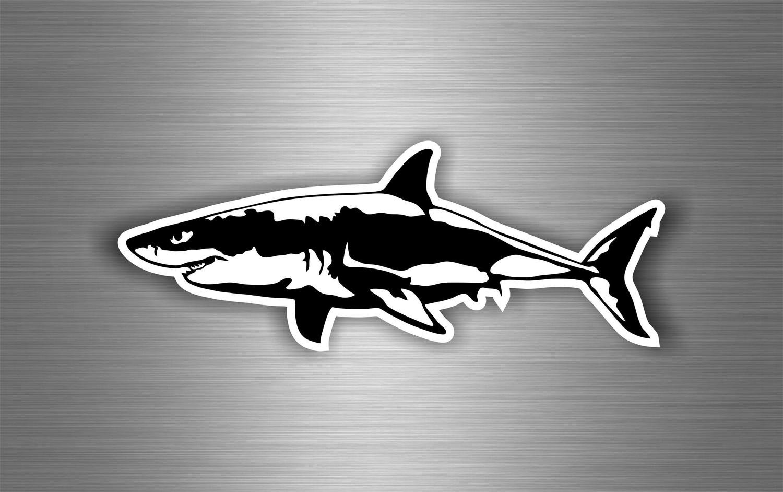 Autocollant sticker voiture moto tuning requin shark macbook vinyle ref1