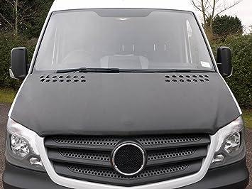 Mercedes Sprinter frontal campana cubierta máscara capó de vinilo negro sujetador stoneguard pantalla: Amazon.es: Coche y moto