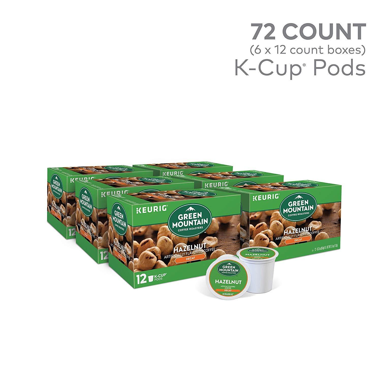 Green Mountain Coffee Roasters Hazelnut Decaf Keurig Single-Serve K-Cup Pods, Light Roast Coffee, 72 Count (6 Boxes of 12 Pods) by Green Mountain Coffee Roasters (Image #6)