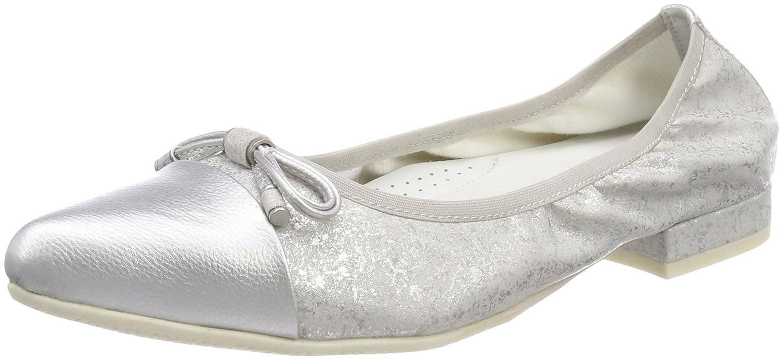 GERRY WEBER Shoes Damen Valentina 26 Geschlossene Ballerinas, Grau (Grau-Kombi), 37 EU