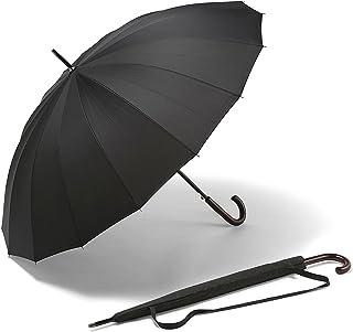 K-POP Ombrello grande – Il miglior ombrello a prova di vento – L'ombrello con apertura automatica più resistente, nero – SODDISFATTI O RIMBORSATI – Per uomo e per donna