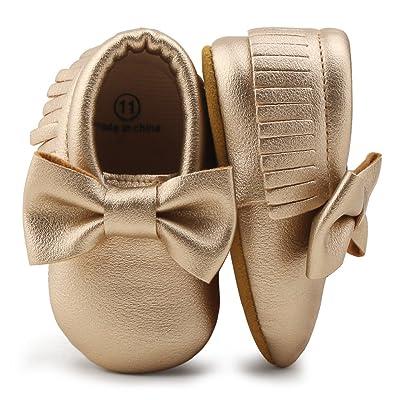549def9a37c56 DELEBAO Chaussures Bébé Chaussons Bébé Cuir Souple Chausson enfant  Chaussures Premiers Pas Cuir Souple Bébé Fille Chaussures Bébé Garçon