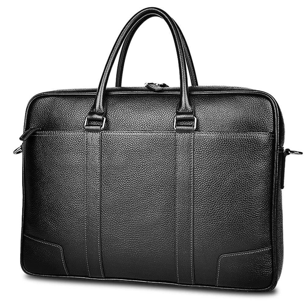 Briefcase Home Leder Aktentasche Schulter Laptop Business Bag Herrenhandtasche