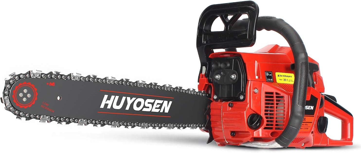 HUYOSEN 18-Inch 60CC Cordless Gas Chainsaw