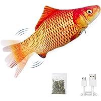 "Potaroma Electric Flopping Fish 10.5"", Moving Cat Kicker Fish Toy, Realistic Flopping Fish, Wiggle Fish Catnip Toys…"