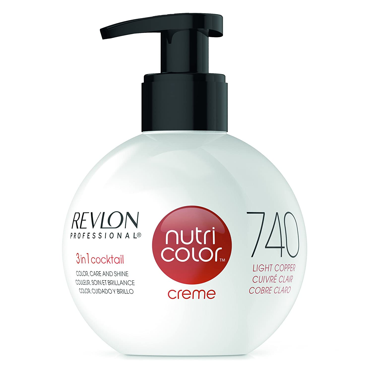 Revlon Professional Nutri Color Creme #740-Light Copper 270 ml - 270 ml