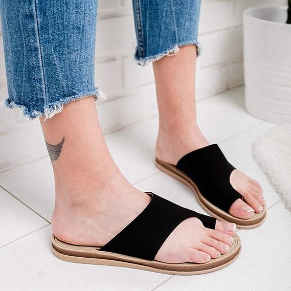 Amazon.com: Las Mujeres Cómoda Plataforma Sandalias Zapatos ...