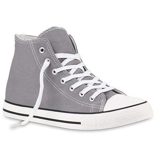 Stiefelparadies Zapatillas Altas Hombre, Color Gris, Talla 44 EU: Amazon.es: Zapatos y complementos