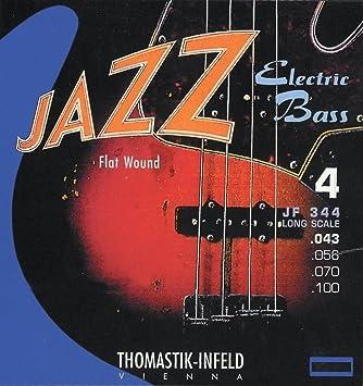 Thomastik JF34033 - cuerdas para Bajo Eléctrico Jazz Bass Serie Nickel Entorchado plano. Nucleo redondo