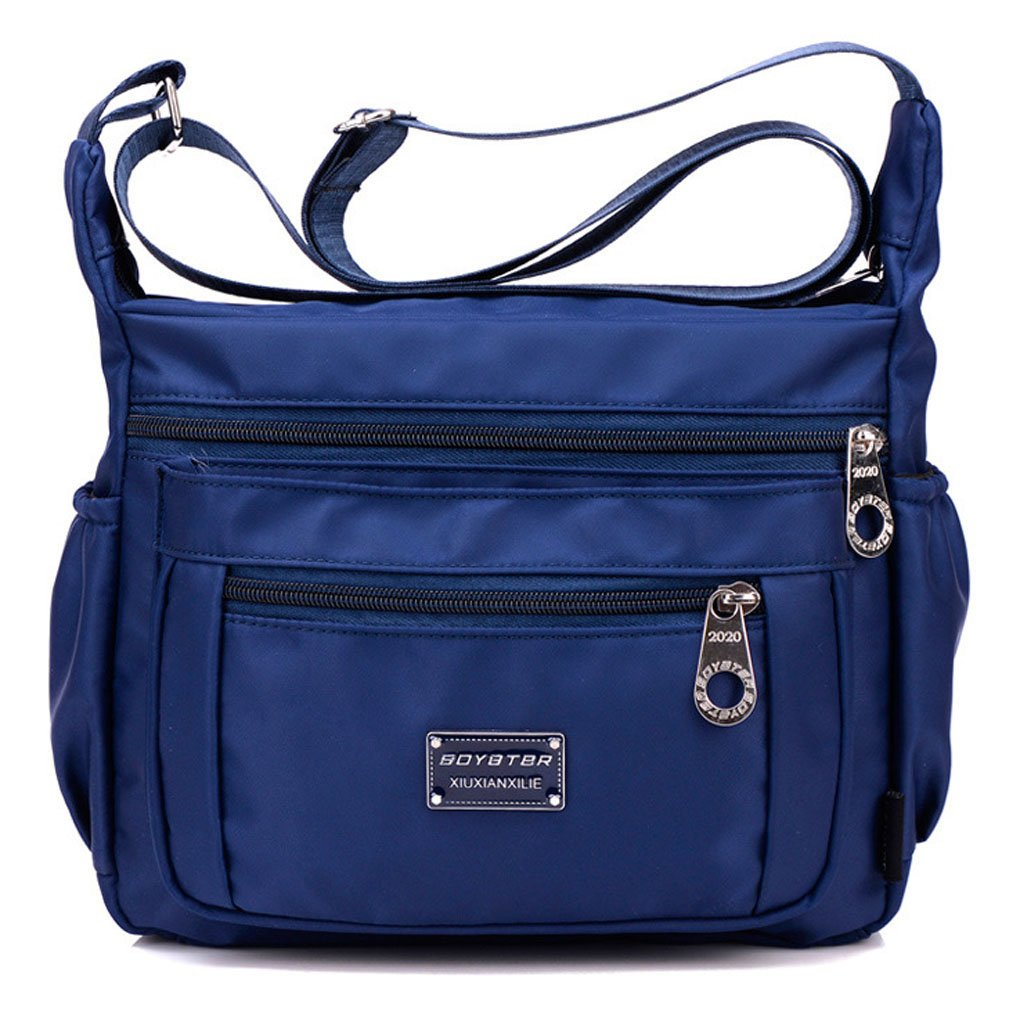Tibes Voyage sac Messenger Sac à bandoulière occasion Oxford tissu Crossbody sac sac pour femmes/hommes 111djbao25-shenlanse