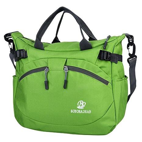 Vbiger Bolsos Bandolera de Nylon Impermeable para Mujer con PC (Verde) 229864a14ad3
