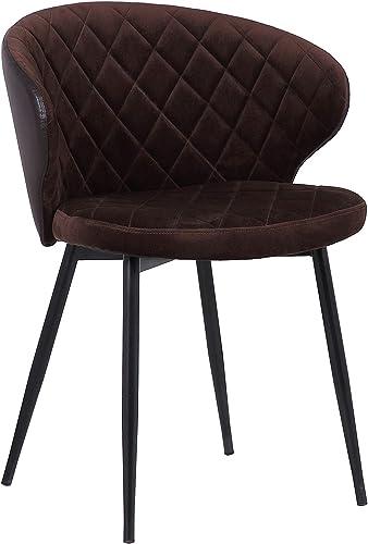 Armen Living Ava Contemporary Velvet Dining Room Kitchen Accent Chair