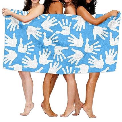 Amazoncom Zmlsjy Bath Towel Children Palms And Feet Large Bath