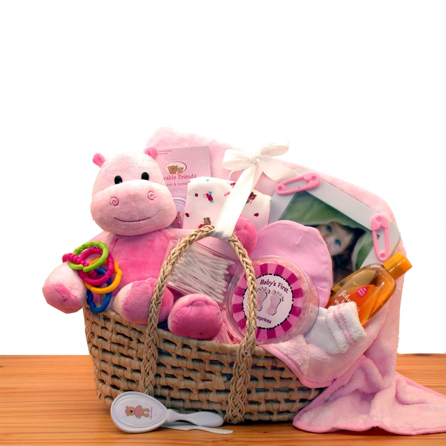 Gift Basket Drop Shipping Our Precious Baby New Baby Carrier -Medium Pink