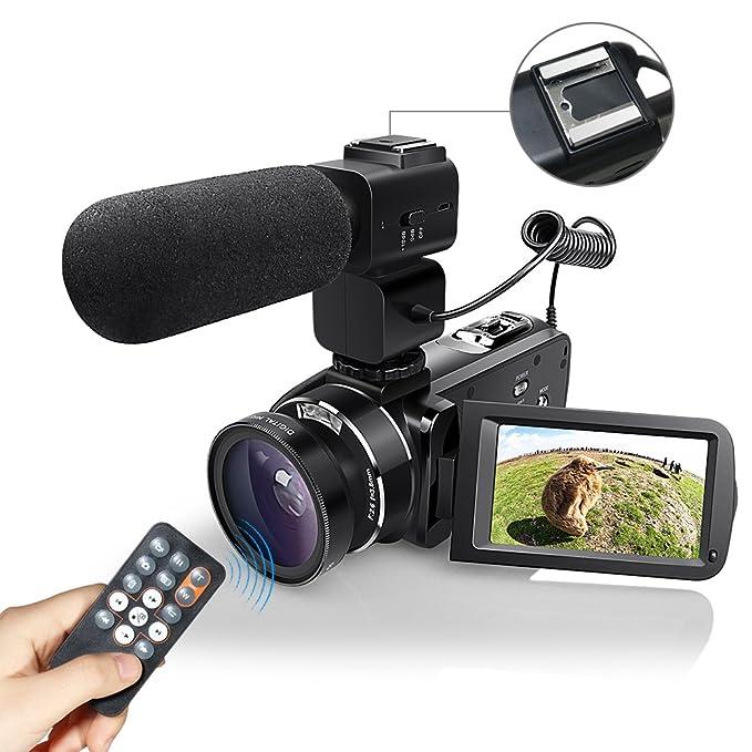 22 opinioni per WiFI Fotocamera Videocamera, Eamplest Videocamera Full HD 1080P 30FPS 24MP 16X,