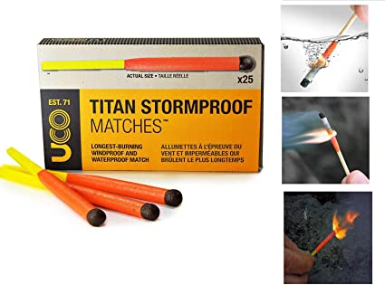 USA SELLER Stormproof Windproof Waterproof Matches Kit w// Case Matches NEW