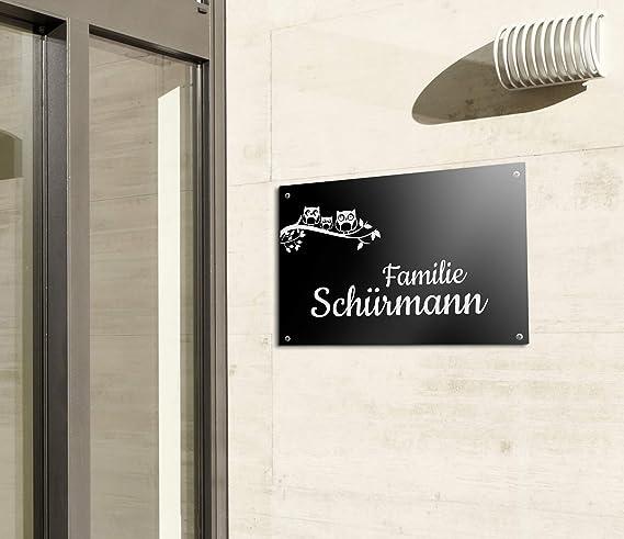 Elegante cartel para puerta con grabado. Placa para buzón ...