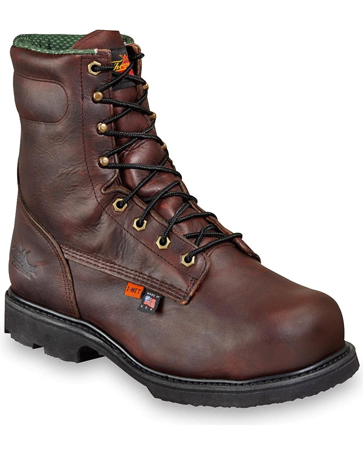 Thorogood Mens USA Made 8 I-MET2 Safety Toe Work Boot Leather 804-4831