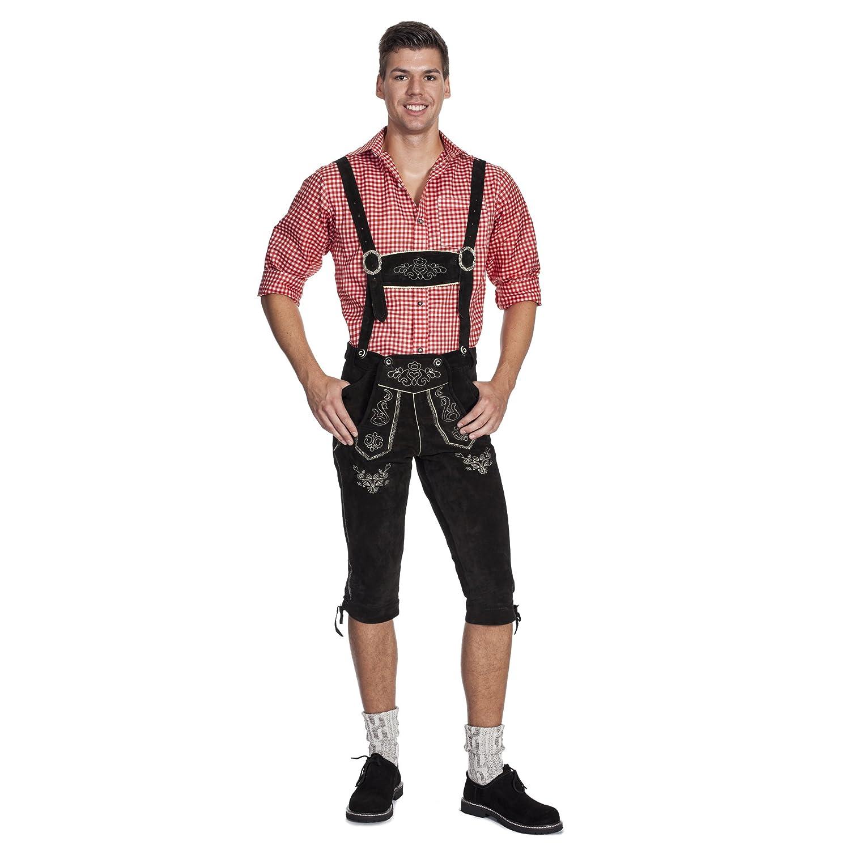Gaudi-Leathers E100, Pantalones de Cuero Regionales Para Hombre