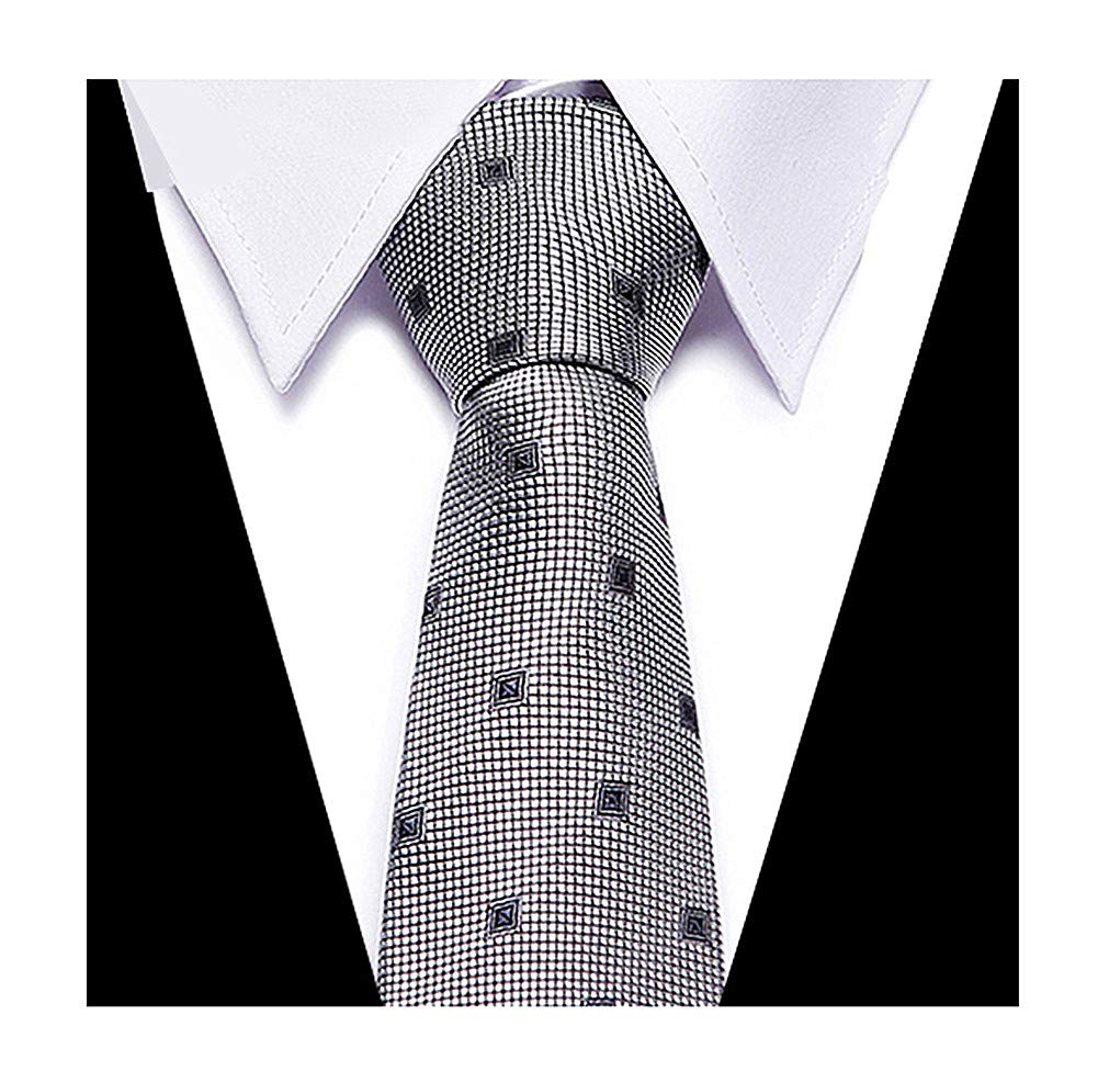 Men Kid Boy Metal Grey Wedding Tie Elegant Banquet Formal Prom Necktie Xmas Gift