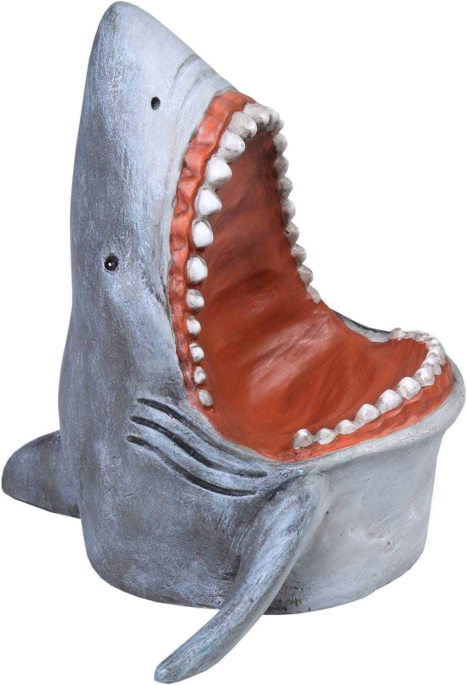 What on Earth Shark Cell Phone Holder - Great White Shark Universal Mobile Phone Holder, Sculpted Resin, 5 1/2""
