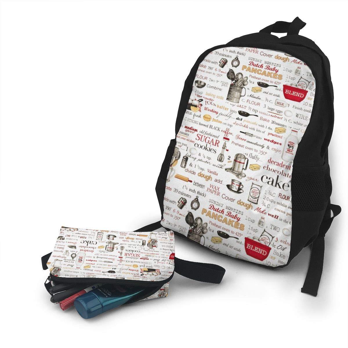 8350a0c97f84 Amazon.com: Klasl5 The Cook Recipes Travel School Backpacks,College ...