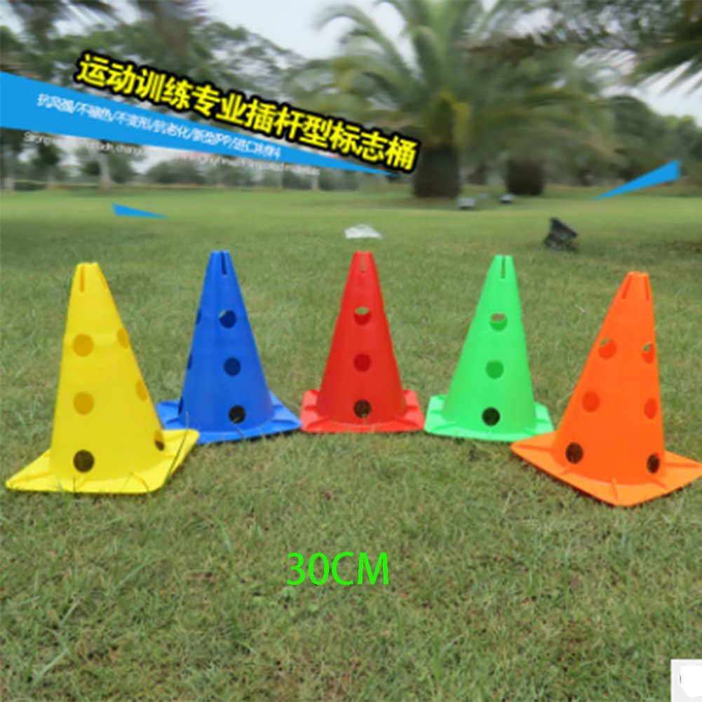 30cm/12''( Set of 8) or 48cm/19''( Set of 4) sports field soccer training traffic cones for taekwondo Wushu drills stations field boundaries kids games MSH