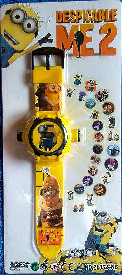 Buycrafty Minions ME3 Cartoon imágenes Proyector Reloj Niños Reloj ...
