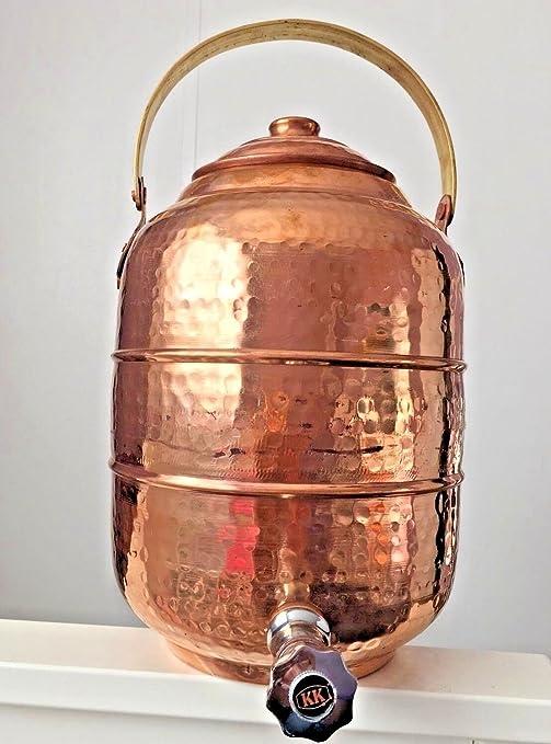 J M joyas cobre dispensador de agua 1,7 L 6,5 L 218 oz Pot ...