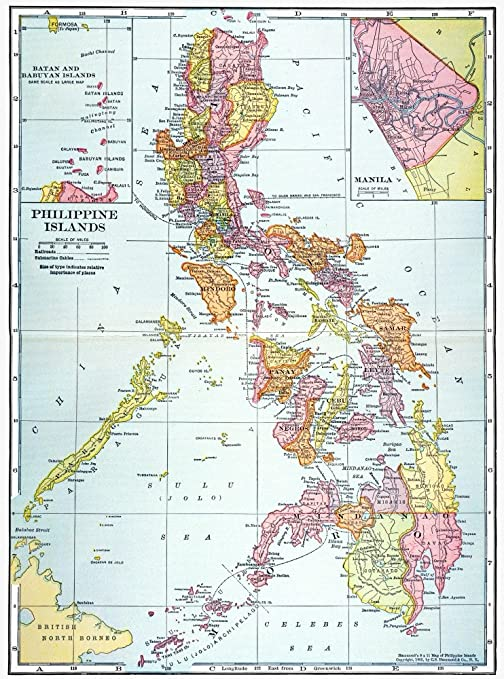 Map: Philippines 1905. /Nmap of The Philippine Islands ...