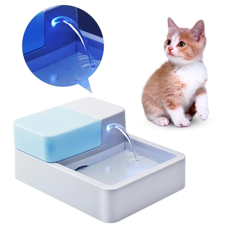 Amazon.com : Homdox Pets Ceramic Drinking Fountain Pet Feeder ...