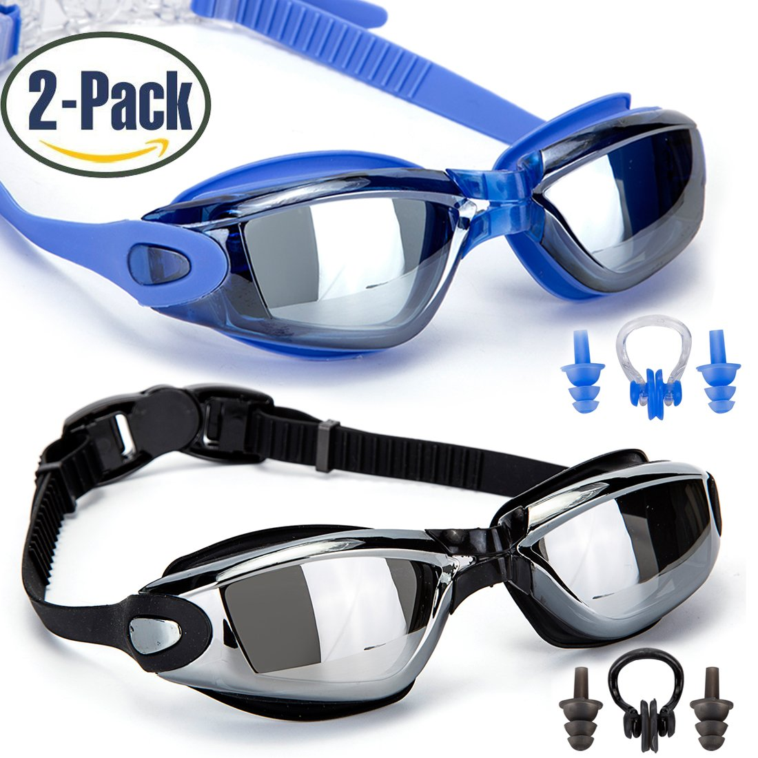 Swimming Goggles,Pack of 2 - $...