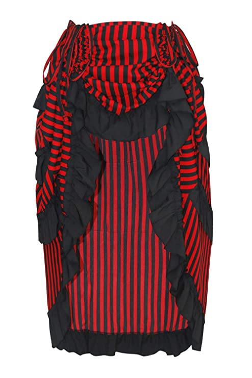 Saloon Girl Costume | Victorian Burlesque Dresses & History Charmian Womens Steampunk Gothic High Low Cyberpunk Skirt $24.99 AT vintagedancer.com