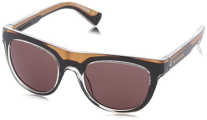 55 DSL Herren FF0001 Wayfarer Sonnenbrille, 05J Shiny Black/Gold
