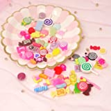 Honbay 30PCS Slime Charms, Assorted Flatback Resin
