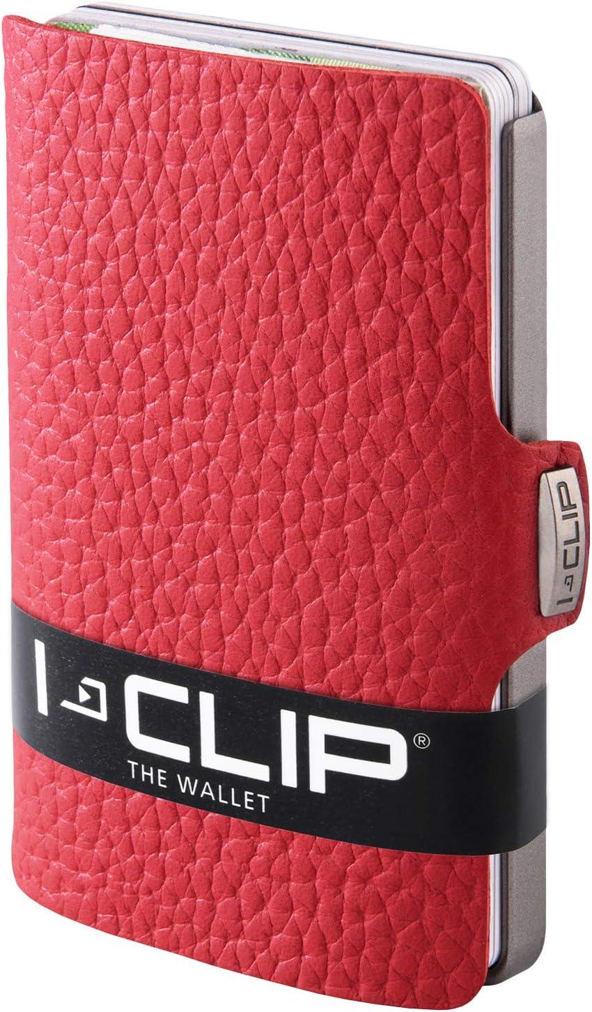 I-CLIP Cartera Delgada Tarjetero Pequeño para Tarjetas de Crédito y Billetes (rojo)