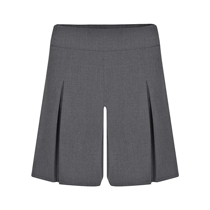 0e76e3305e Image Unavailable. Image not available for. Colour: Ex UK Store Girls School  Culottes Grey Adjustable Waist 3-16Y Uniform