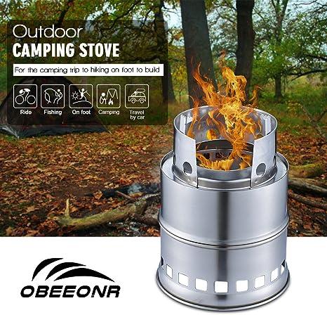 Hornillo de Gas Portátil para Camping Estufa de Campaña de ...