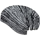 Noise Men's Acrylic Beanie Cap - NOICAP-WNTR004_Black and White_Free Size